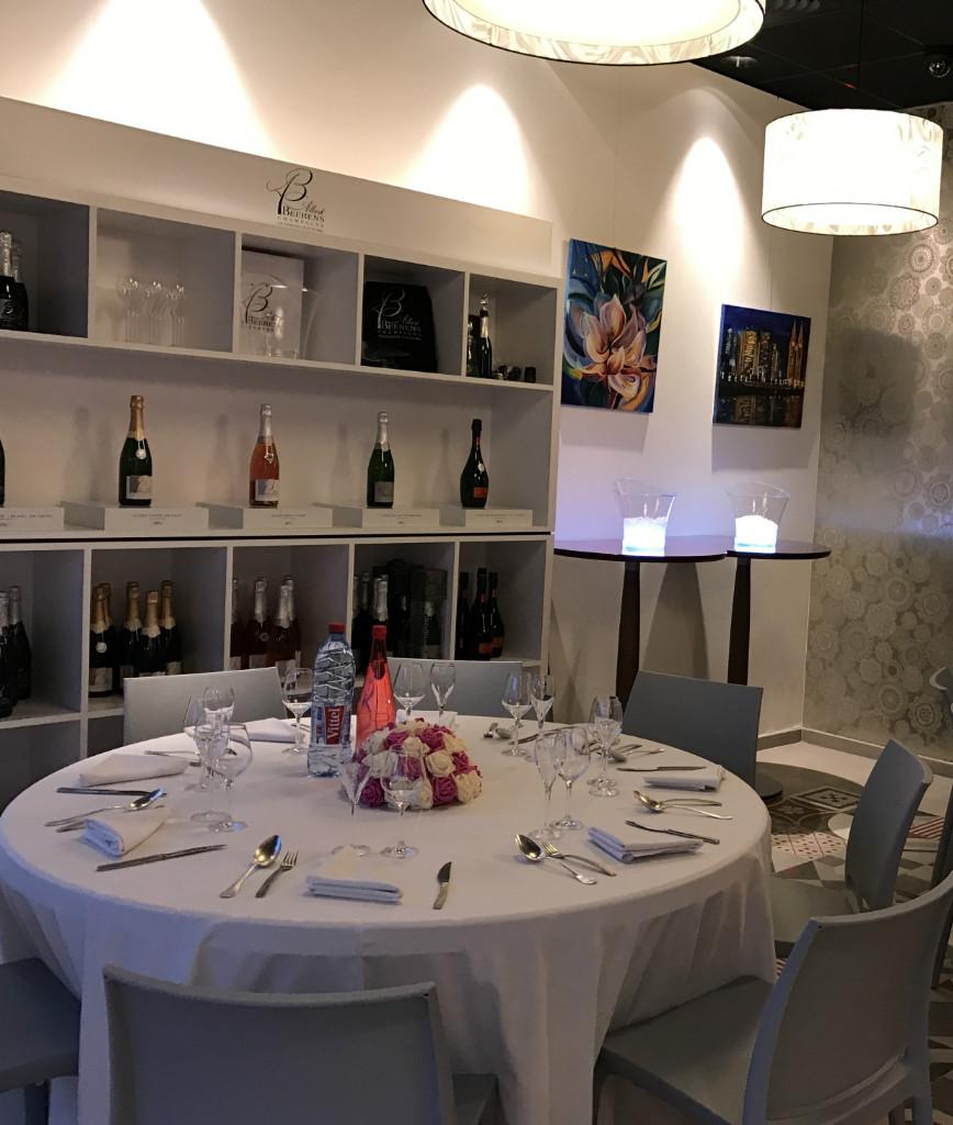 Champagne Albert Beerens : déjeuner au champagne - menu gastronomique